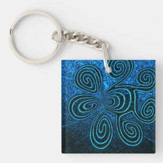 Cosmic Spirals Keychain