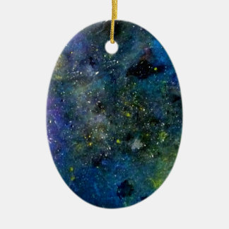 Cosmic starry sky - orion or milky way cosmos ceramic ornament