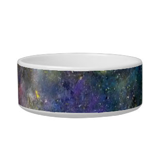 Cosmic starry sky - orion or milky way cosmos pet bowl