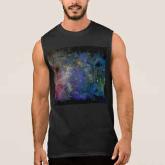 Cosmic starry sky - orion or milky way cosmos sleeveless tee