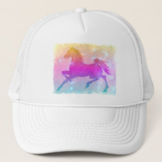 Cosmic Steed Colorful Horse Stars Hat