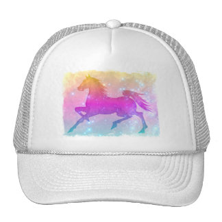 Cosmic Steed Colorful Horse Stars Trucker Hat