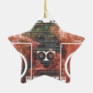 Cosmic Stereo Double-Sided Star Ceramic Christmas Ornament