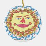 COSMIC SUN by Ruth I. Rubin Christmas Ornaments