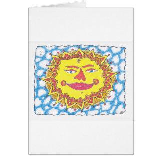 COSMIC SUN by Ruth I. Rubin Greeting Cards