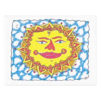 COSMIC SUN by Ruth I. Rubin Postcard