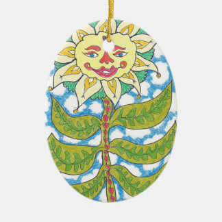COSMIC SUNFLOWER by Ruth I. Rubin Christmas Ornaments