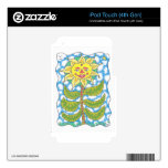 COSMIC SUNFLOWER by Ruth I. Rubin iPod Touch 4G Decal