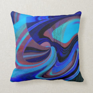 Cosmic Swirl of Blue N  Pink Throw Pillow