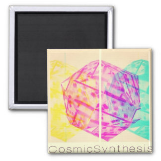 Cosmic Synthesis - The year of synergy and rebirth 2 Inch Square Magnet