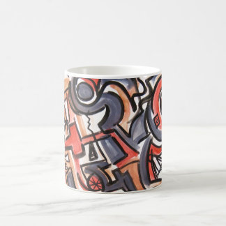 Cosmic Tension-Abstract Art Hand Painted Coffee Mug