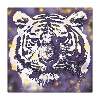 Cosmic Tiger Canvas Print