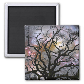 Cosmic Tree - Colliding Galaxies 2 Inch Square Magnet