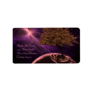 Cosmic Tree of Life Address Label
