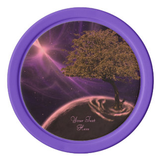 Cosmic Tree of Life Poker Chips Set