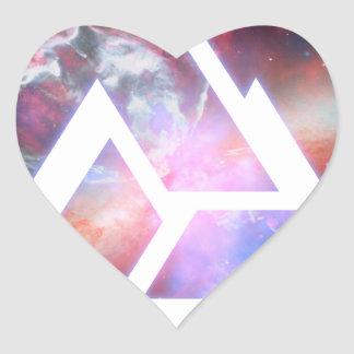 Cosmic Triple Knot Triangle Heart Sticker