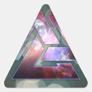 Cosmic Triple Knot Triangle Sticker