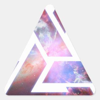 Cosmic Triple Knot Triangle Triangle Sticker