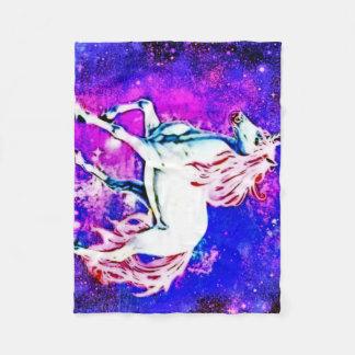 Cosmic unicorn Fleece Blanket