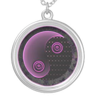 Cosmic Violet Yin Yang Necklace