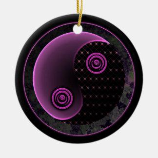 Cosmic Violet Yin Yang Ornament