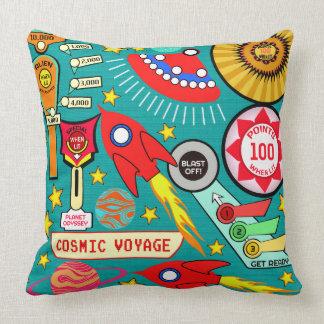 Cosmic Voyage Pinball Throw Pillow