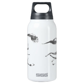 Cosmic Wanderer, Sumi-e Year of the Horse Insulated Water Bottle