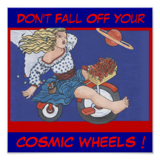 Cosmic Wheels Poster