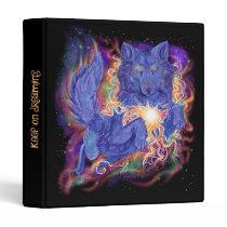 Cosmic Wolf 3 Ring Binder