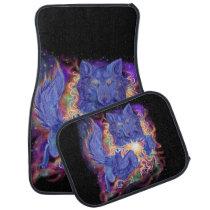 Cosmic Wolf Car Floor Mat