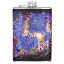 Cosmic Wolf Flask