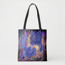 Cosmic Wolf Tote Bag