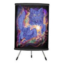 Cosmic Wolf Tripod Lamp