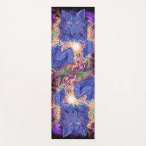 Cosmic Wolf Yoga Mat