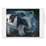 Cosmic Yak Stationery Note Card