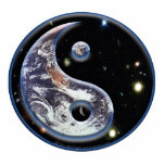 "Cosmic Yin Yang Statuette<br><div class=""desc"">Yin and Yang symbolize the forces of cosmic energy and cosmic balance. Yin is all that is &quot;feminine&quot; receptive and magnetic, dark. Yang is the &quot;masculine&quot; active and kinetic force, light. However as they flow together, each of these forces are shown to hold a small dot of the other within...</div>"