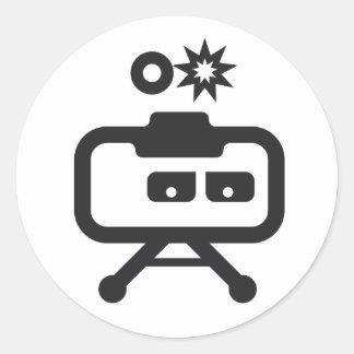 """Cosmicity Logobot 3"""" pegatina, 6 Ct. Pegatina Redonda"""