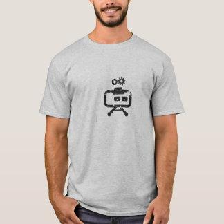 Cosmicity Logobot Grey Distressed T-Shirt