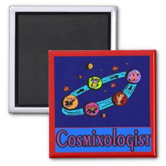 Cosmixologist del espacio imán cuadrado