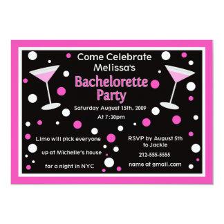"""Cosmo Bachelorette Invite 5"""" X 7"""" Invitation Card"""