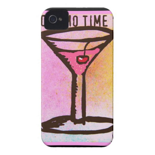 COSMO TIME PINK MARTINI PRINT BLACKBERRY CASE