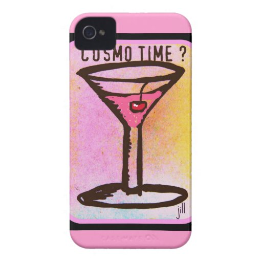 COSMO TIME PINK MARTINI PRINT iPhone 4 Case-Mate CASE