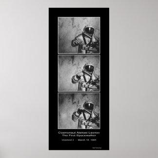 Cosmonaut Aleksei Leonov - The First Spacewalker Poster