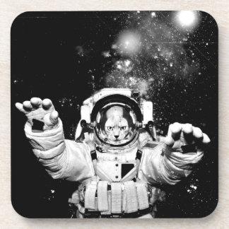 Cosmonaut Cat Beverage Coaster
