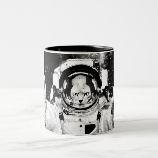 Cosmonaut Cat Two-Tone Coffee Mug