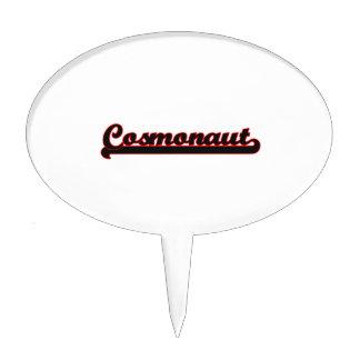 Cosmonaut Classic Job Design Cake Topper