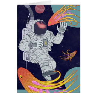 Cosmonaut Greeting Cards