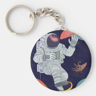 Cosmonaut Keychain