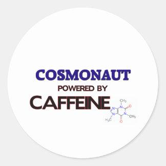 Cosmonaut Powered by caffeine Stickers