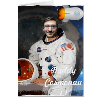 Cosmonaut, Shuttle, Space - with YOUR Photo & Text Card